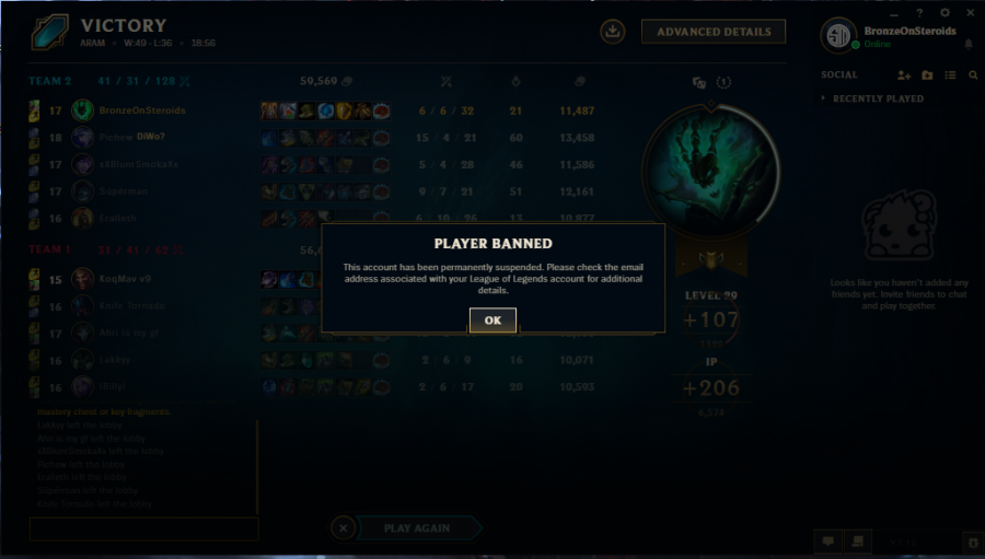 Opinion on Toxicity in League of Legends