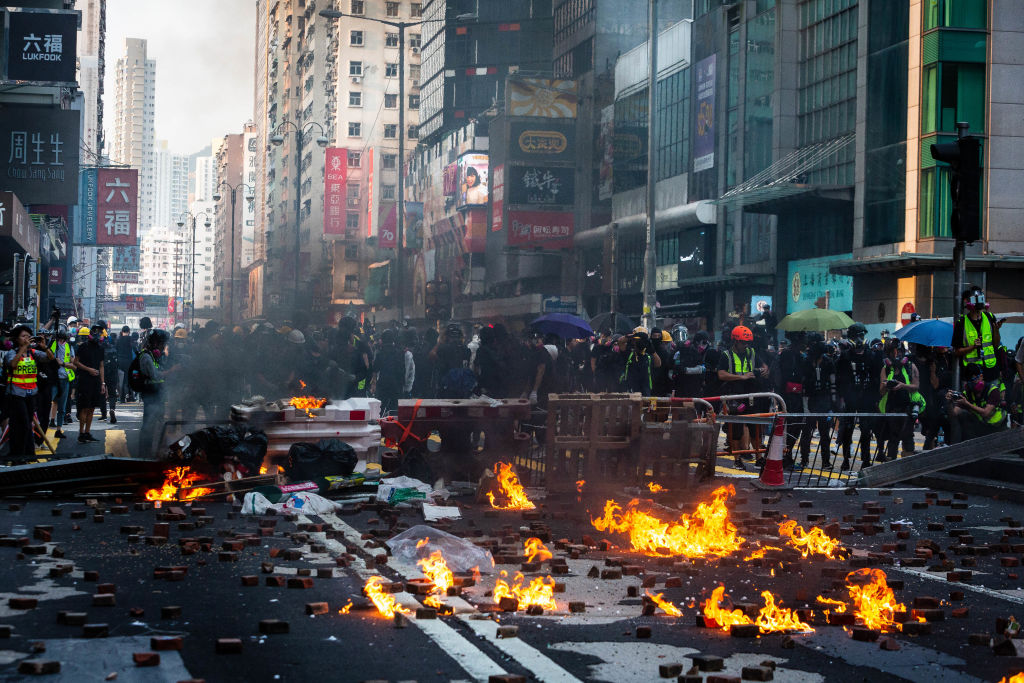 The Hong Kong Protesters refuse to give up and continue to protest. The situation gets worse every single day. Picture Credit to Bloomberg via Getty Images.