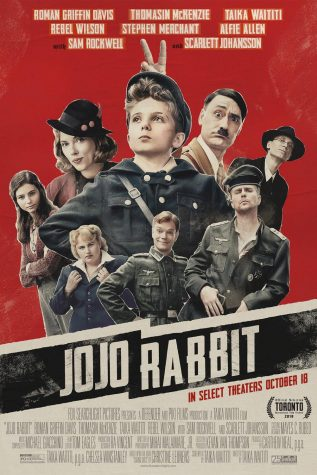JoJo Rabbit starring Roman Griffin Davis is out. Used under fair usage, poster by Fox Searchlight Pictures