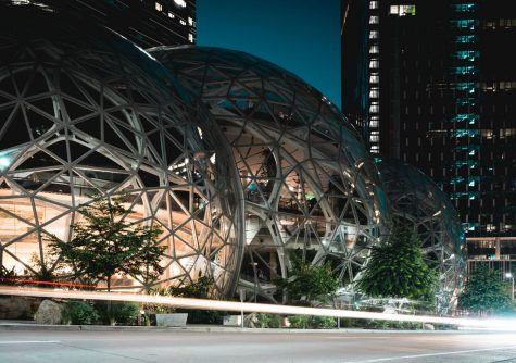 The Amazon headquarters in Seattle, WA