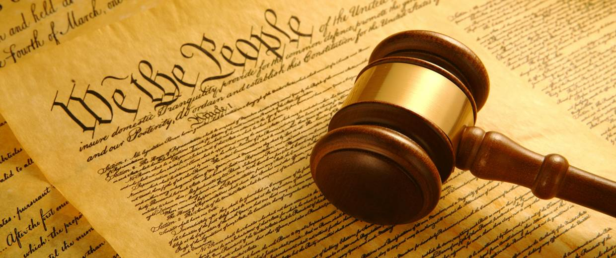 The Constitution lays out Articles that the United States wants to abide to, with Amendments being added along the way. Photo and credits to Getty Images - United States Constitution and Gavel
